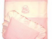 1. Miś różowa kratka